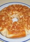 フライパンでパン 柿の種と甘納豆のパン