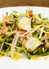 タコ・カニカマ・豆苗のからし酢みそサラダ