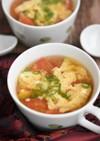 かきたまトマトの中華風スープ