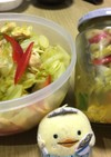 キャベツと蒸し鶏の酢の物 カレー甘酢