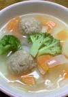 冷凍鶏団子で簡単!野菜スープ☆