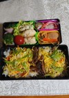 残ったお野菜でちらし寿司を作りました。
