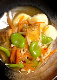 長芋と厚揚げの野菜あんかけ♪