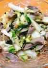砂肝とパクチーの中華風冷菜