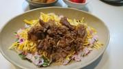 牛肉ちらし寿司(しば漬)の写真