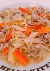 豚バラと野菜の、コンソメ肉野菜炒め!