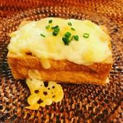 厚揚げと納豆のチーズ焼きの写真