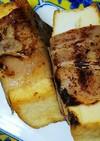 チーズ入り厚揚げのベーコン巻き