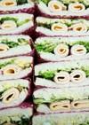 ハムチーズ玉子のミックスサンドイッチ♪