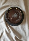 新月のようなチョコレートチーズケーキ