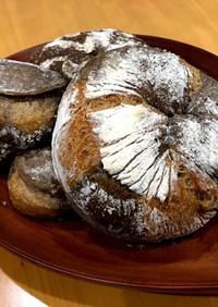 珈琲とココアのハードパン  自家製酵母
