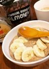 朝から簡単☆あったかいオートミール朝ご飯