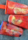 ジュースで作る簡単フルーツアイスバー