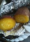 ダイソー黒ホイルの焼き芋