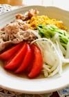 しらたきで作るさっぱりサラダ冷麺