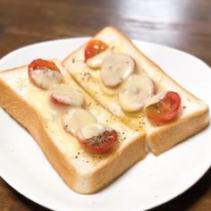 プチトマトのチーズトースト