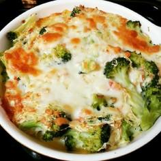 筋トレ飯♡鮭とブロッコリーの長芋焼き