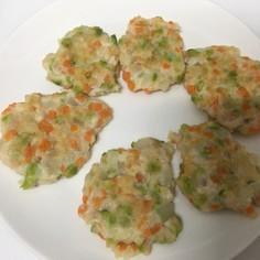 離乳食後期: 枝豆入り豆腐ハンバーグ