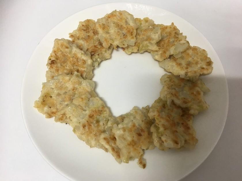 離乳食後期:ナスときのこの豆腐ハンバーグ