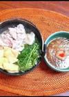 水菜と豚しゃぶのはりはり鍋