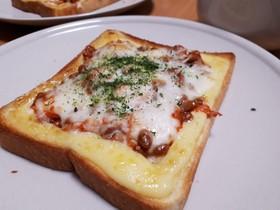 納豆キムチーズトースト