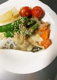 煮崩れしにくい鱈と野菜の塩だれ煮付け