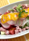 ポン酢で爽やか!もずく&トマトのサラダ