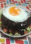 超簡単☆旨テリ特大ハンバーグのロコモコ丼