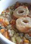 フフフ…もち麦と野菜、食べるスープ