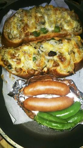 納豆トーストしらすレーズンパン