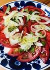 簡単*酢たまねぎでイタリアントマトサラダ