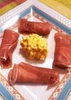 卵サラダと生ハムチーズのおつまみ