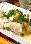 4分レンジ 塩麹で柔らか蒸し鶏おろし和え
