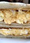 休日の朝に食べて!リッチな卵サンド