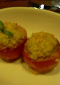 トマトボート(肉詰め焼き)