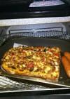 納豆&トマトのオムレツもどきトースト☆