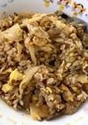 サバの水煮缶で簡単♡サバガリキムチ炒飯