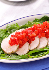鶏ハムのフレッシュトマトソース