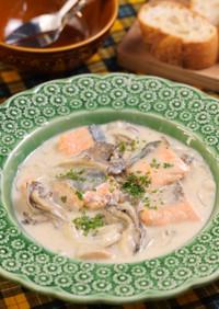 秋鮭と舞茸のポテトクリーム煮♪