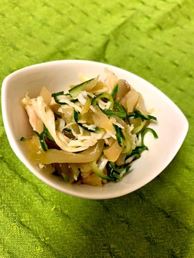 【常備菜】鶏肉とザーサイの中華和え