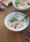 豚バラともやしの豆乳スープ
