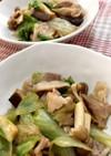 豚バラ肉と椎茸とレタスのオイスター炒め