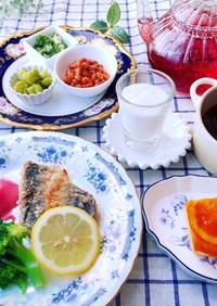 6月第二週 朝食献立 低糖質 糖質制限
