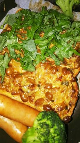 納豆&パイナップルバタートースト