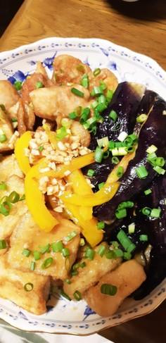 高野豆腐となすの南蛮漬け