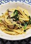 ニラとキャベツのスタミナスパゲッティ