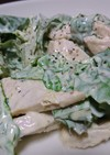 サラダチキンとロメインレタスの簡単サラダ