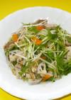 1/2日分の野菜と茹で豚のあんかけ