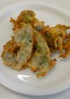 チリメンと大葉と針生姜のかき揚げ