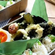 ハモの天ぷら&素麺弁当